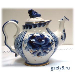 Чайник Голубая Рапсодия  золото