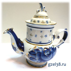 Чайник  Голубка, золото