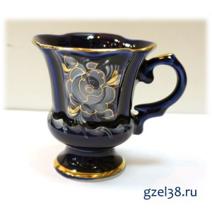 Кофейная чашка Идиллия глухой кобальт