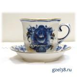 Чайная пара Граненая (золото)