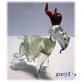 Коза стеклянная, прозрачная